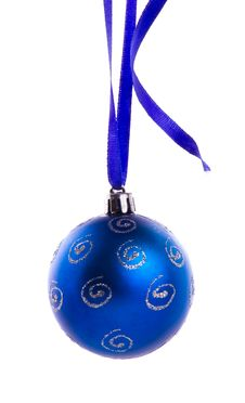Free Blue Bauble Royalty Free Stock Image - 22290096