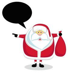 Free Santa With Speech Bubble Royalty Free Stock Photo - 22290525