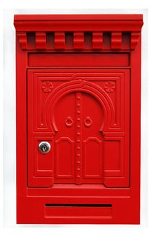 Red Mailbox Front Isolated