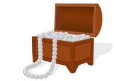 Free Box With A Pearl Necklace Stock Photos - 22293433