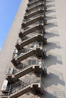 Metallic Stairs Royalty Free Stock Image
