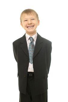 Young Businessman Boy Stock Photos