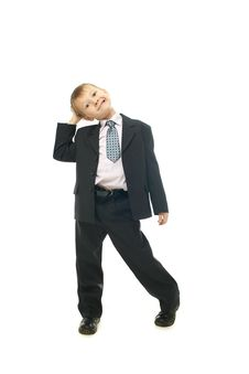 Young Businessman Boy Stock Images
