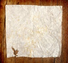Free Crumpled Paper On Wooden Background Royalty Free Stock Image - 22294966