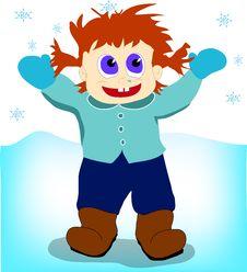 Free Boy Under The Snow Stock Photo - 22295840