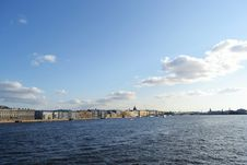 Free View Of The Neva River Royalty Free Stock Photos - 22295958