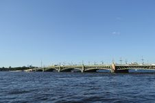 Free Trinity Bridge In St.Petersburg Stock Photography - 22296042