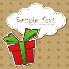Free Present Gift Box With Ribbon Royalty Free Stock Images - 22299529