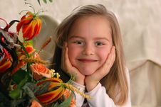 Free Portrait Of A Little Girl Stock Photo - 2231210