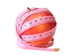 Free Apple With Pink Tape Measure Royalty Free Stock Photography - 2231737