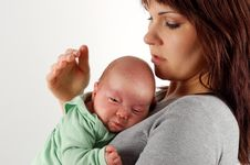 Free Mother Holding Baby 5 Royalty Free Stock Image - 2232006