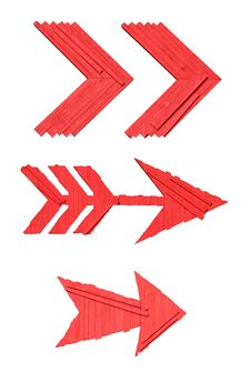 Free Red Arrow Signs Stock Photo - 2232510