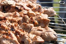 Free Meat Kebabs Shashlyk On A Bbq Royalty Free Stock Image - 2232646