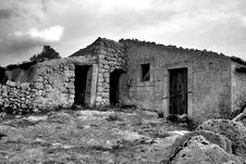 Ancient Rural House Royalty Free Stock Images