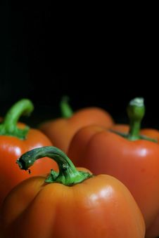 Free Orange Bell Peppers Stock Photos - 2233563