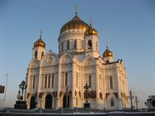 Free Christ Temple In Moscow 1 Royalty Free Stock Photos - 2234248