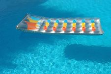 Free Bed In The Swimming Pool Stock Photography - 2234392