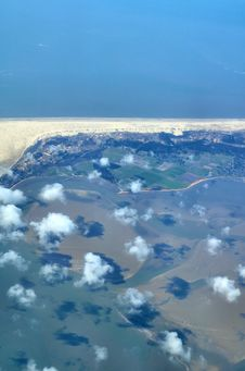 Free View Over Wadden Sea Islands Royalty Free Stock Image - 2235236