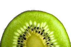 Free Green Slice Of A Kiwi Stock Images - 2236344