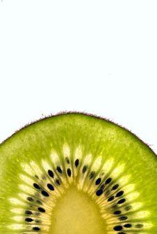 Free Green Slice Of A Kiwi Stock Image - 2236351