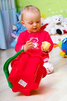 Free Baby With Toy Stock Photo - 2238050
