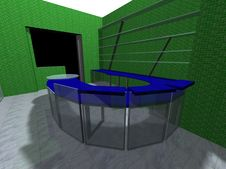 3D Rendering Of An Office Stock Images