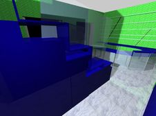 3D Rendering Of An Office Royalty Free Stock Photos