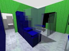 3D Rendering Of An Office Stock Photography