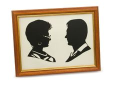 Free Silhouette Of Couple In Frame Royalty Free Stock Photography - 2238567