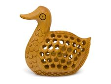Wooden Figurine Of Duck Stock Photography
