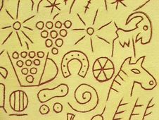 Free Wall With Symbols Royalty Free Stock Image - 2238576