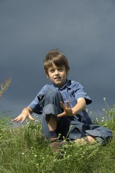 Free Young Boy Posing Dramatically Royalty Free Stock Photography - 2239047