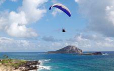 Free Parachuter Over Hawaii Stock Image - 2239061