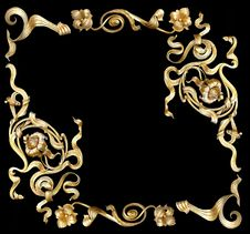 Free Gold Frame4 Royalty Free Stock Image - 2239386