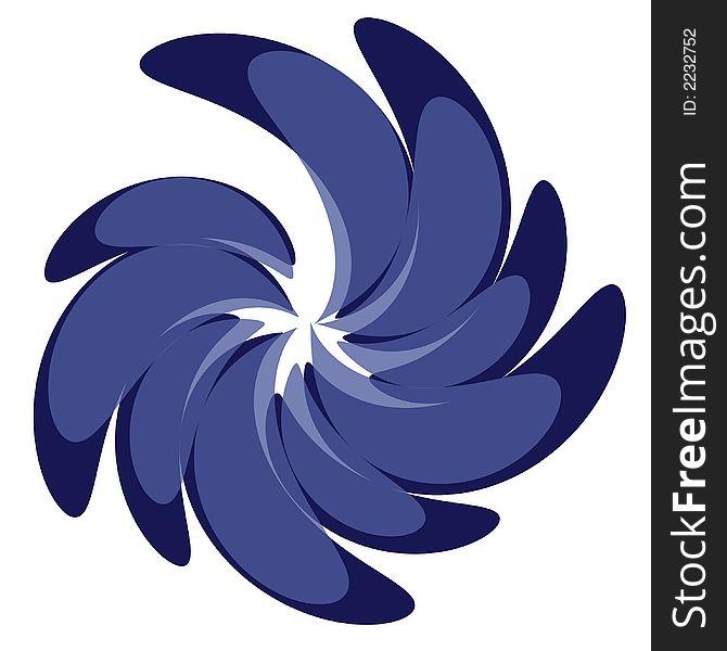 Swirl Pattern Designs in Blue