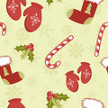 Free Seamless Pattern With Cute Cartoon Red Stocking Stock Photos - 22300823