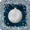 Free Silver Christmas Ball Royalty Free Stock Photo - 22305425