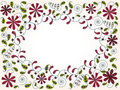 Free Greeting Card With Abstract Floral Elements Royalty Free Stock Photos - 22309088
