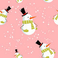 Free Seamless Pattern With Cute Cartoon Xmas Snowman Royalty Free Stock Image - 22309226