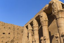 Free Detailed View Of The Pillars (Edfu, Egypt) Stock Images - 22300724