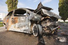 Free Burning Car Royalty Free Stock Photos - 22301178