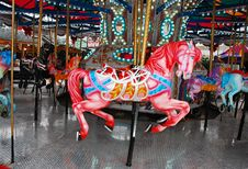 Free Pink Carousel Horse Stock Images - 22302564