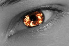 Free Fiery Eye Royalty Free Stock Image - 22303436