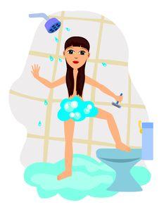 Free Girl Shave Leg Stock Image - 22307381