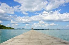 Free Wooden Jetty In Thailand Stock Images - 22309994