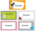 Free Set Of Colorful Business Cards Stock Photos - 22316043