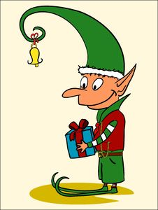 Free Christmas Elf Royalty Free Stock Photography - 22314027