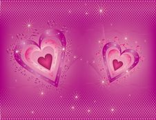 Bright  Valentine S  Day Background Royalty Free Stock Photos