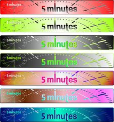 Free Banners Set Royalty Free Stock Photos - 22314848