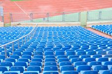 Free Empty Plastic Chairs At The Stadium Stock Images - 22317614